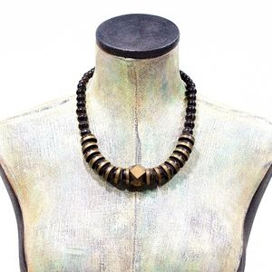 Jewelry - VTG 70's Horn and Brass Necklace